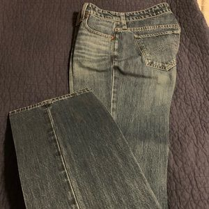 Lucky easy rider jean, starched & ready to wear.